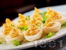 Рецепта Фаршировани яйца пълнени с майонеза и горчица